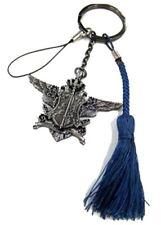 Black Butler Kuroshitsuji Ciel Phantomhive Metal Strap Key Holder Ring New