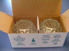 Partylite Votive Tea Candles Holders Cut Glass in Box