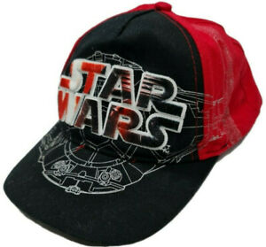 Star Wars Snapback Hat Cap Raised Embroidered Logo Black Red Lucas Film Youth