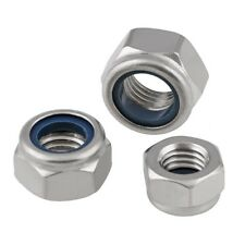 M2 M3 M4 M5 M6 M8 M10 M12 M14 M16 Stainless Nylon Insert Lock Nuts Nyloc Hex Nut