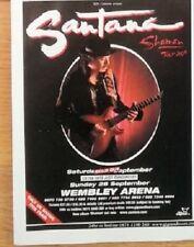 SANTANA UK TIMELINE Advert -  Wembley Arena 28-Sept-2003 5x4 inches