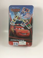 Disney Pixar Cars 2 Domin's Game Set In Metal Tin