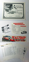 1991-1992 DARRELL WALTRIP Fan Club package~ NASCAR with racing schedules