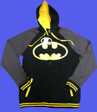 NWT mens DC COMICS Batman FLEECE zip-up hoodie HOODY JACKET size - SMALL