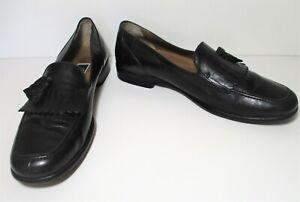 Bragano Cole Haan Tassel Loafers 12M Men black leather
