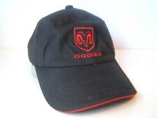 Dodge Ram Hat Black Hook Loop Baseball Cap