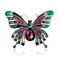 Vintage Crystal Rhinestone Large Butterfly Brooch Pin Breastpin Wedding Jewelry