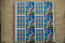 Bugs Bunny Stamp Full Press Sheet of 60 issued 5/22/1997 With Plate Numbers RARE
