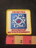 Vintage FRONTIER ROUNDUP BSA Boy Scouts Of America Patch 88NU