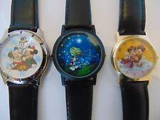 Three Disney Vintage Watches: Mickey, Minnie & Jiminy Cricket