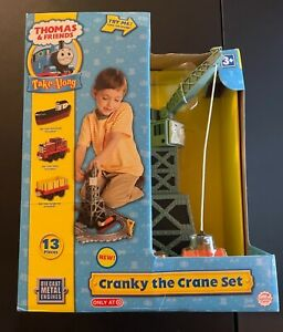 CRANKY THE CRANE SET 13 pc Take Along Thomas & Friends Learning Curve New Sealed