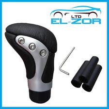 Cromo Negro Cuero Gear Shift perilla de palanca de cambios selector cambio palanca de palo Manual
