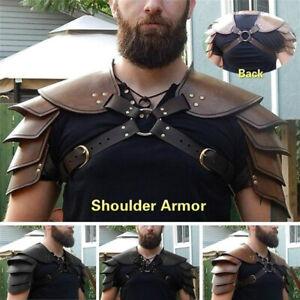 Medieval Leather Shoulder Armor Buckles Harness Costume LARP Epaulette 1 UK+
