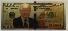 Gold Foil Commemorative Banknote (Trump) Color US Dollar 1000