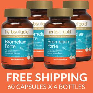 Herbs of Gold Bromelain Forte 60 Capsules - 4 PACK - $23.73 each