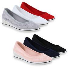 Details zu Textil Schuhe Damen Ballerinas Slipper marine blau weiß 35 36 39 Stoffschuhe 247