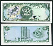 Trinidad & Tobago 5$ 1985 Bird & Coat of Arms - P37c - Signature 6 - UNC