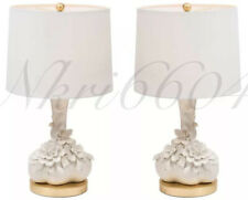 BRAND NEW (Pair) REGINA ANDREW 2 Lamps Ceramic Flower Vine Table Lamp Flowers