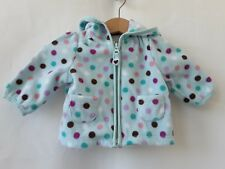Baby & Toddler Clothing Outerwear Old Navy Infant Baby Girl Polka Dots Fleece Hoodie Bear Ears Zipper 6-12 Mon