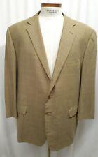 Ermenegildo Zegna Plaid EU 64 US 50 52 Blazer Sport Coat Jacket Tan Wool Silk