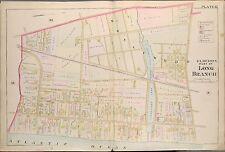 1889 LONG BRANCH, MONMOUTH COUNTY, N.J. ELBERON STATION, COPY PLAT ATLAS MAP