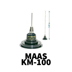 KM 100 KM-100 MAGNETIC ANTENNA AERIAL CB HAM RADIO MAG MOUNT COMPLETE WITH COAX