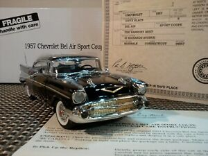 DANBURY MINT 1957 CHEVY BEL AIR..RARE COUPE 1:24 NIB TITLE UNDISPLAYED..PRISTINE