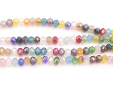 600pcs/4strand 4mm Faceted Abacus AB Multi-color Glass Crystal Loose Beads
