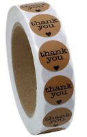 Thank You Stickers Labels Seals Craft Wedding Favours Toppers Baby Shower
