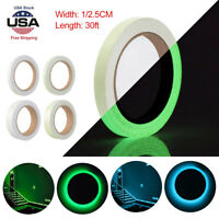 30ft Glow In The Dark Luminous Fluorescent Night Self-adhesive Sticker Tape Sign