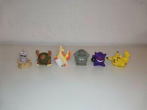 Pokemon 6x Finger Puppets Bandai Nintendo Toys Kanto Region Pikachu Ponyta Onix