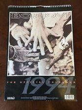 Vintage 1994 Bon Jovi Original Danilo Large Wall Hanging Calendar Collectible