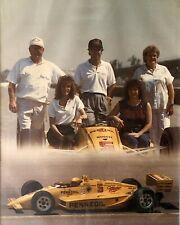 1988 INDY 500 Winner Rick Mears & Family Photo Framed