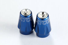 2X Bike Bicycle Tire Schrader Valve Caps ( American ) w/ Swarovski Crystal Blue
