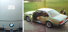BMW 6 Series 630CS 633 CSi E24 1977-78 Original UK Brochure Pub. No. 711070220