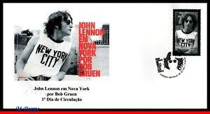 21-01 BRAZIL 2021 JOHN LENNON IN NEW YORK by BOB GRUEN, MUSIC, BEATLES, FDC MNH
