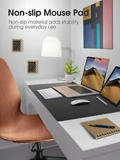 More details for uk large pu leather computer desk mat keyboard mouse mat pad pc laptop cushion