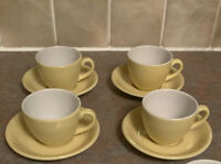 Vitrified Hotel Ware Dunn Bennett Royal Doulton Cups And Saucers