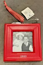 Pottery Barn Baby's First Christmas 2003 Ornament Frame-NWT-Red