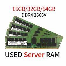 64GB 32GB 16GB DDR4 2Rx4 2666MHz PC4-2666V REG-ECC Server Memory For Micron UK