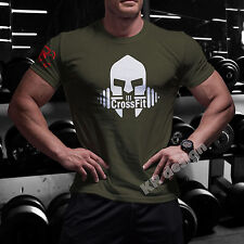 CrossFit TRAIN T-shirt GYM WOD Functional Training Sport Workout Strength Tshirt