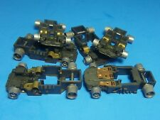 HO Tyco Slot Car,Total Control Racing Chassis MODIFIED to ROLLING STOCK 6 PCS.
