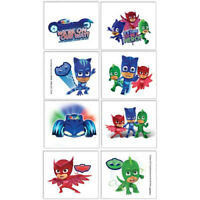 PJ MASKS TATTOOS SUPERHERO BIRTHDAY PARTY SUPPLIES 8 TATTOOS