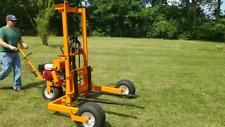 All Terrain Forklift Motorized High Lift Pallet Jack Indoor Outdoor Stacker