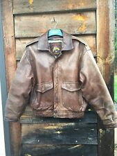 Adventure Bound Wilson's Leather Jacket Bomber Flight Size Large Men's