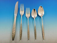 Spanish Lace by Wallace Sterling Silver Flatware Service for 8 Set 46 Pieces