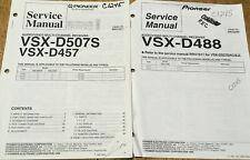 PIONEER VSX-D509S D457 D488 AUDIO/VIDEO RECEIVER ORIGINAL SERVICE REPAIR MANUAL