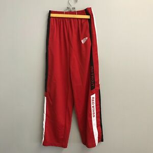 Mighty Mac Sports Detroit Red Wings Tear Away Warm Up Pants Youth Size L 14-16
