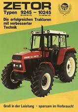 Prospekt Zetor 9245 10245 1987 Schlepper Trecker Traktor brochure deutsch