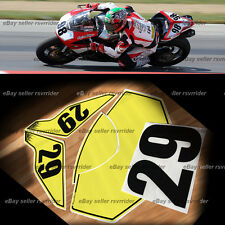trackday or race numberplate set made to fit a ducati 848 1098